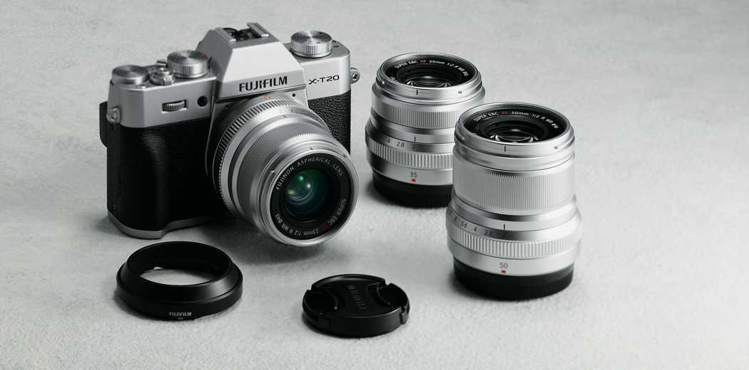 Fujifilm X-T20 with lens